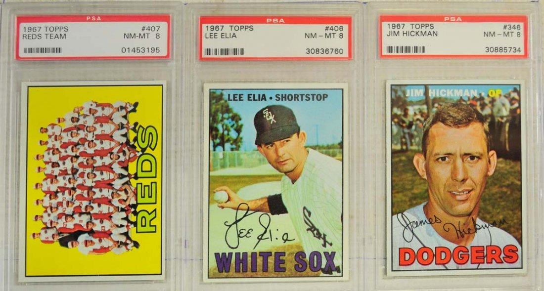 13 1967 Topps PSA Graded 8 Cards