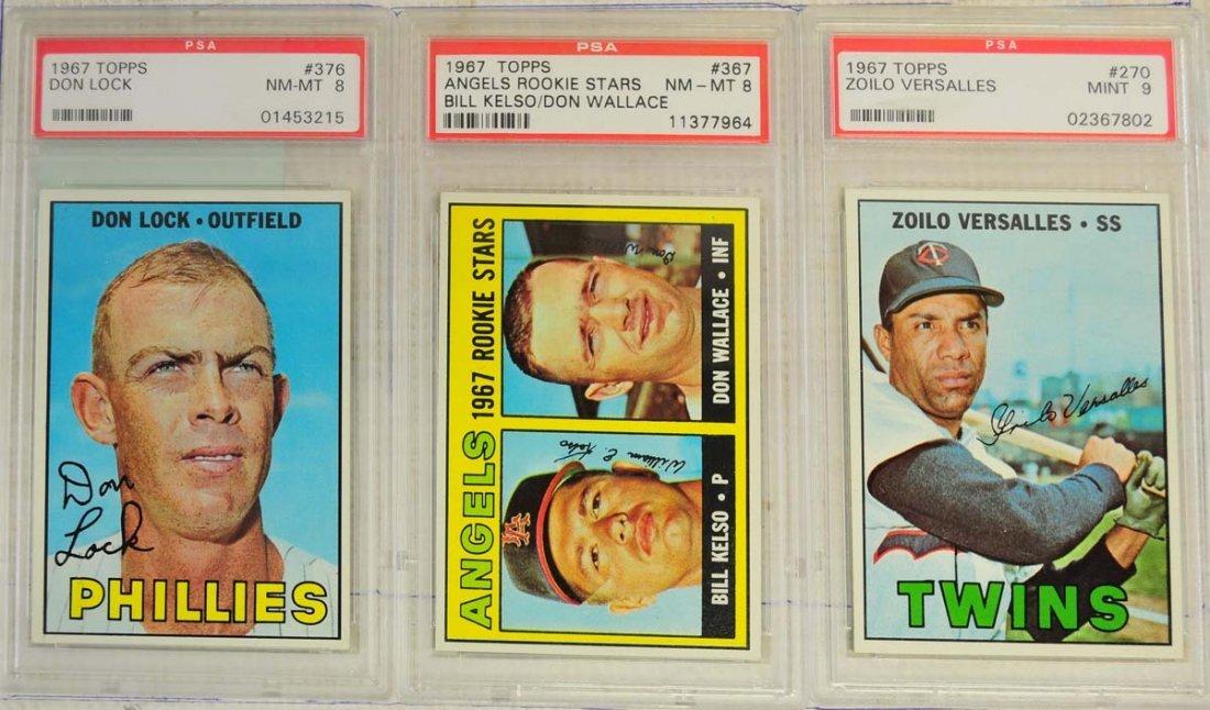 13 1967 Topps PSA Graded 8 Cards - 5