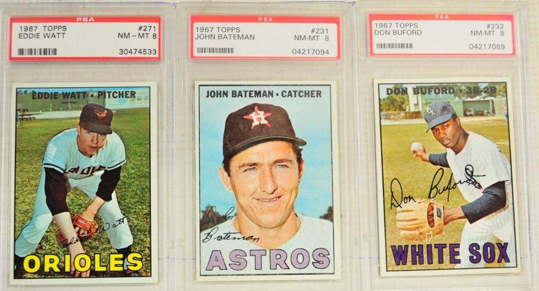 13 1967 Topps PSA Graded 8 Cards - 7