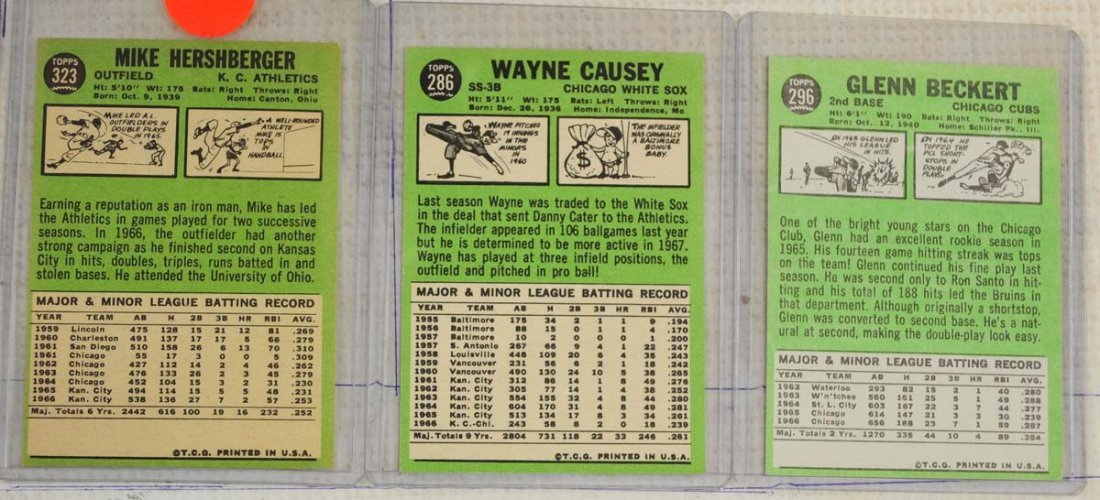 28 1967 Topps Ungraded Mint Cards - 2