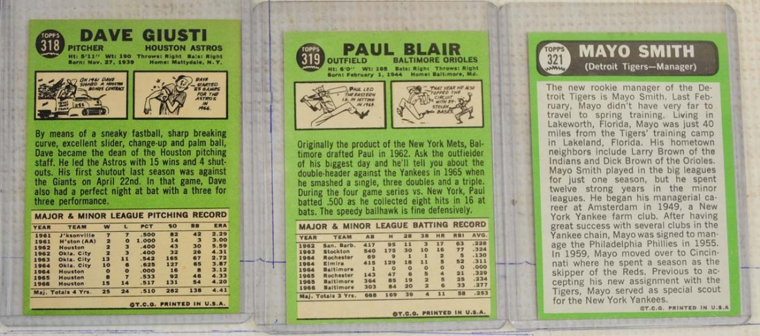 28 1967 Topps Ungraded Mint Cards - 8