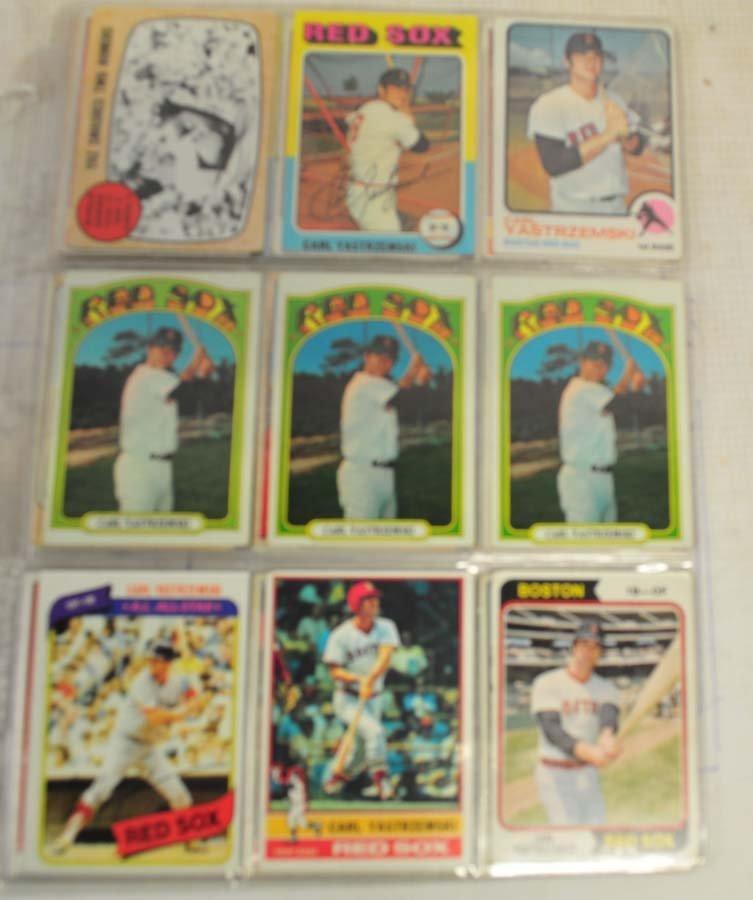 38 1960's and 70's Carl Yastrzemski Cards