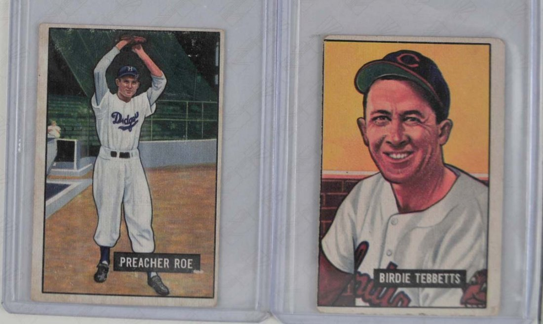 Five 1951 Bowman Mid Grade Baseball Cards - 3