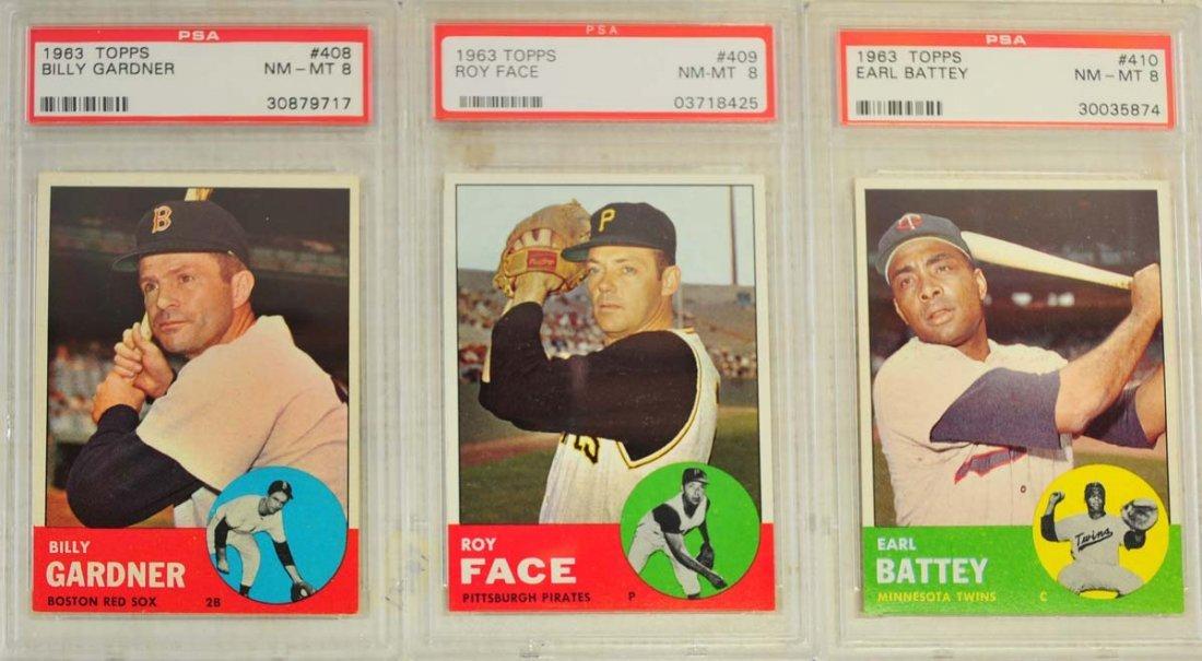 10  1963 Topps Baseball Cards PSA Graded 8 - 3