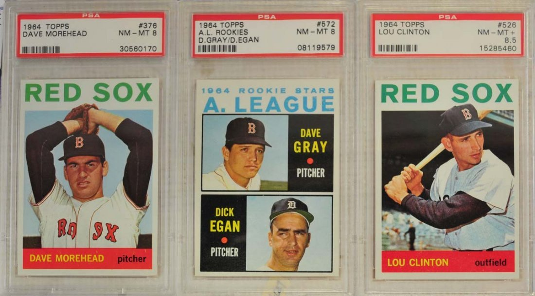 10  1964 Topps Baseball Cards PSA Graded 8 and 8.5