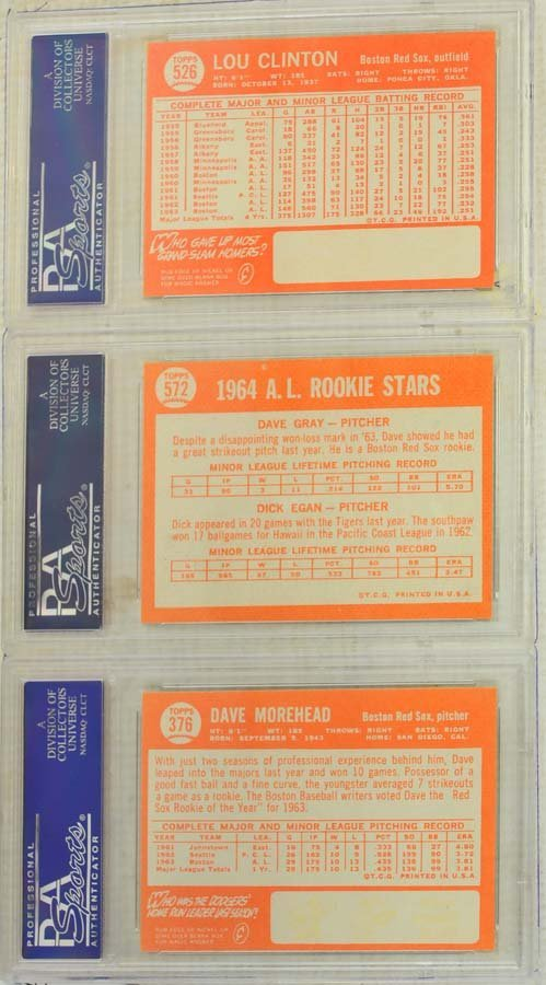 10  1964 Topps Baseball Cards PSA Graded 8 and 8.5 - 2