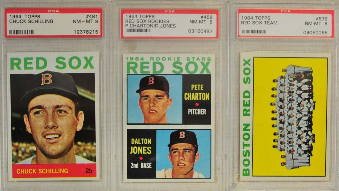 10  1964 Topps Baseball Cards PSA Graded 8 and 8.5 - 3