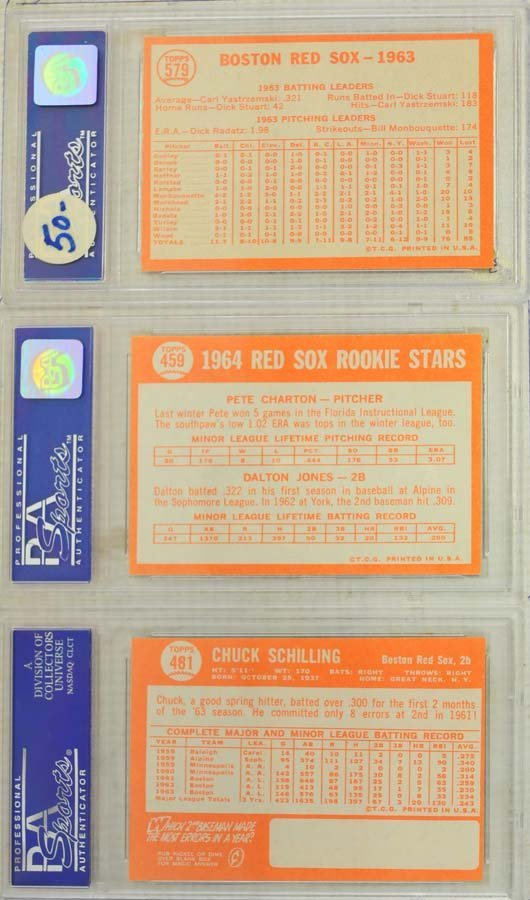 10  1964 Topps Baseball Cards PSA Graded 8 and 8.5 - 4