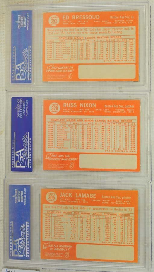 10  1964 Topps Baseball Cards PSA Graded 8 and 8.5 - 5
