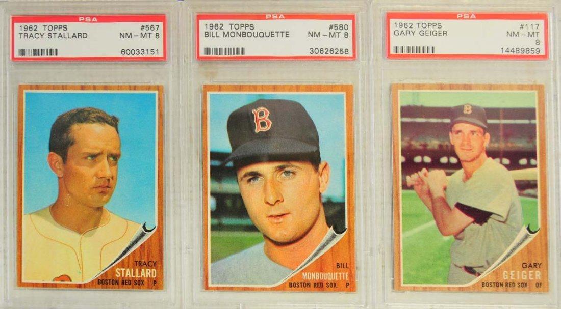 13 1962 Topps Baseball Cards PSA Graded 8/8.5