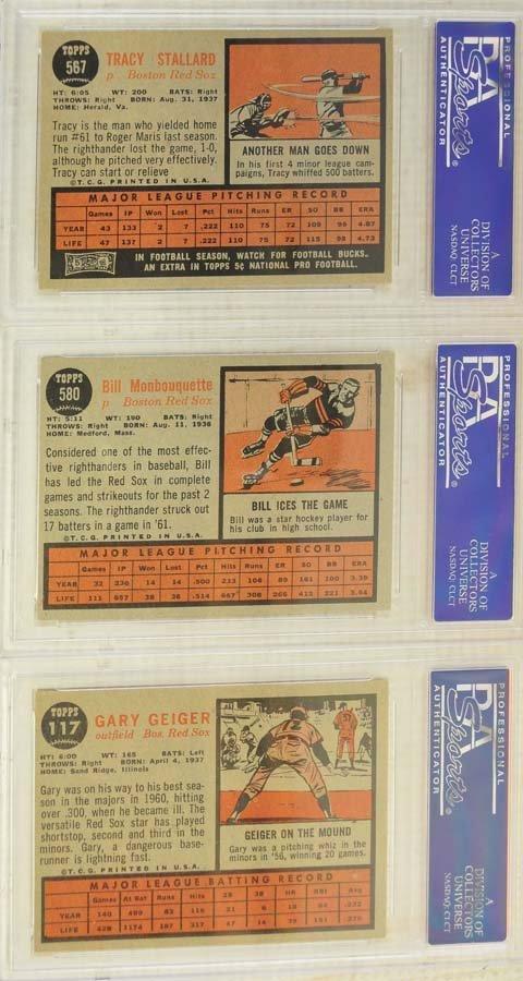 13 1962 Topps Baseball Cards PSA Graded 8/8.5 - 2