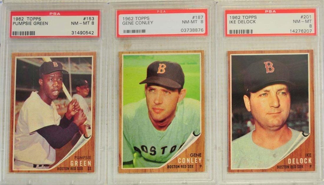 13 1962 Topps Baseball Cards PSA Graded 8/8.5 - 3