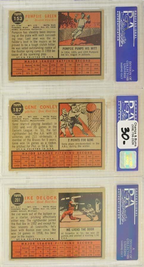 13 1962 Topps Baseball Cards PSA Graded 8/8.5 - 4