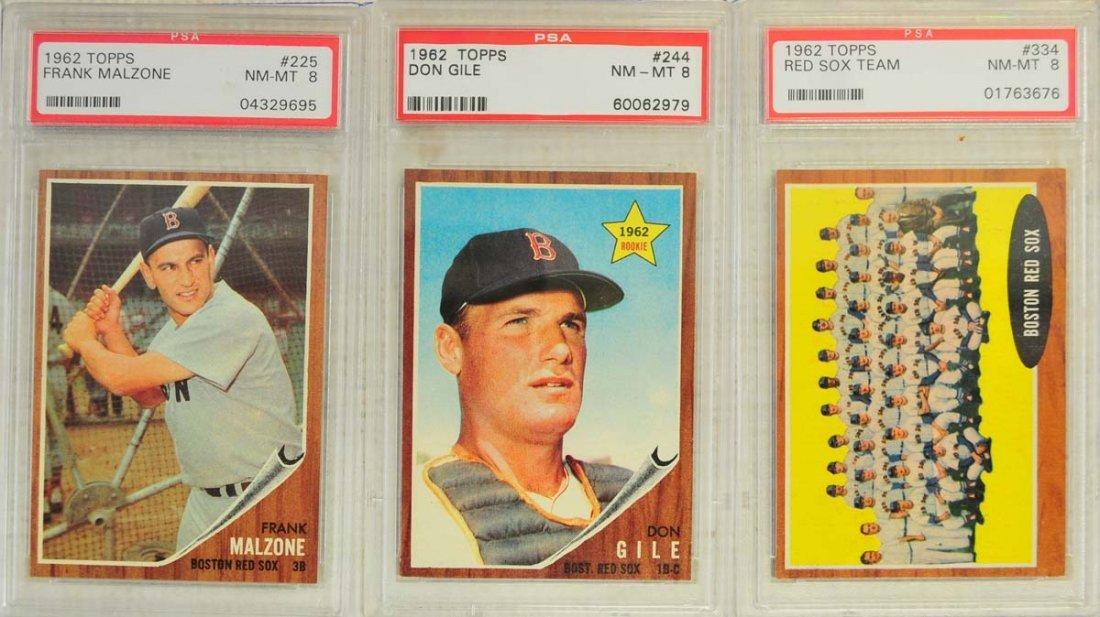 13 1962 Topps Baseball Cards PSA Graded 8/8.5 - 5