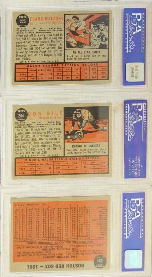 13 1962 Topps Baseball Cards PSA Graded 8/8.5 - 6