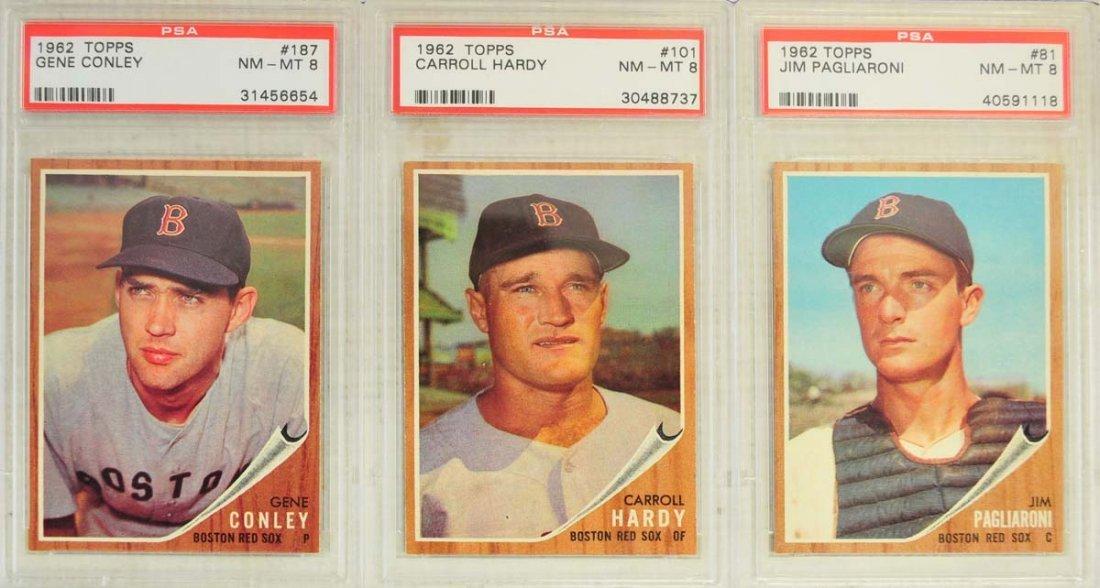 13 1962 Topps Baseball Cards PSA Graded 8/8.5 - 7