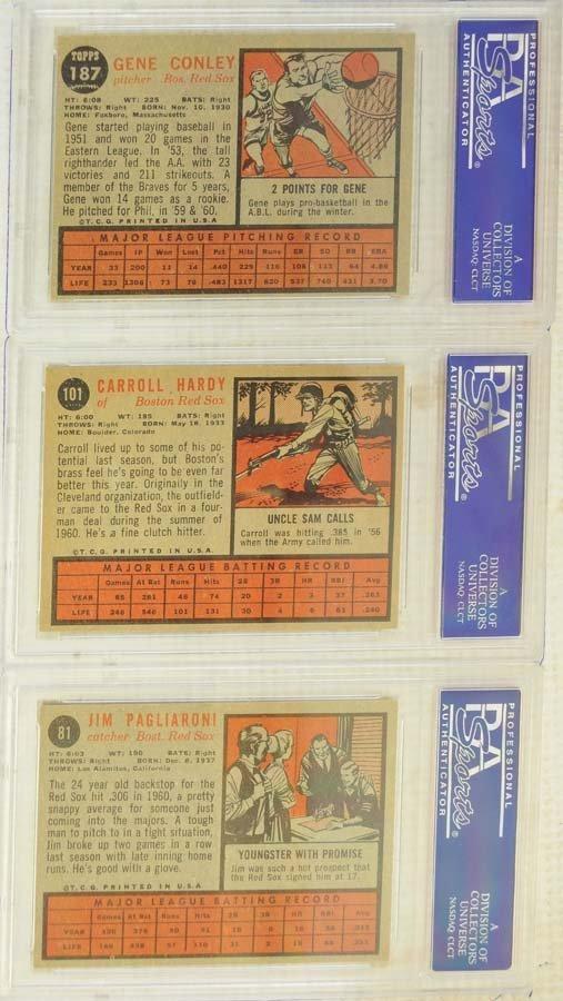 13 1962 Topps Baseball Cards PSA Graded 8/8.5 - 8