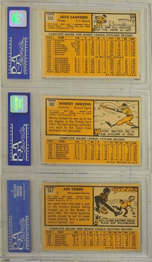 8 1963 Topps Baseball Cards PSA Graded 8 - 2