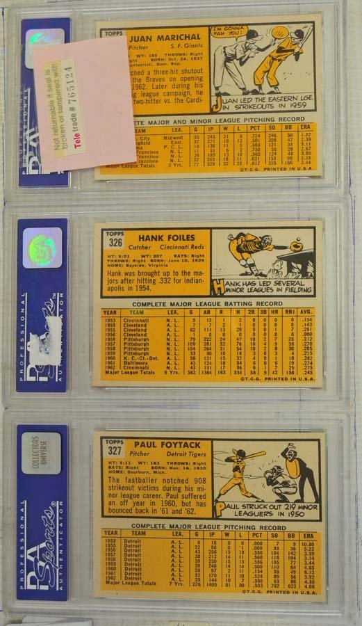 8 1963 Topps Baseball Cards PSA Graded 8 - 5