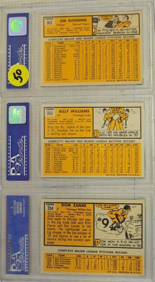 7 1963 Topps Baseball Cards PSA Graded 8 - 2