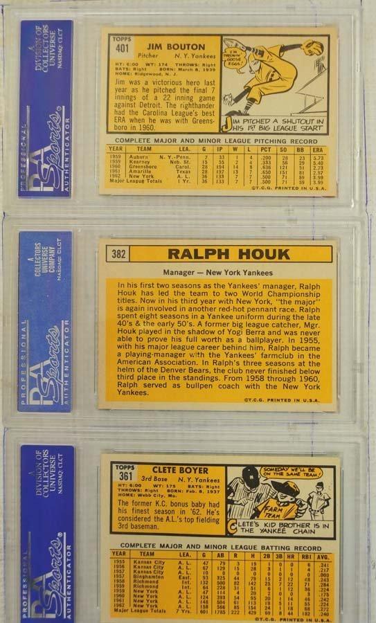 7 1963 Topps Baseball Cards PSA Graded 8 - 4