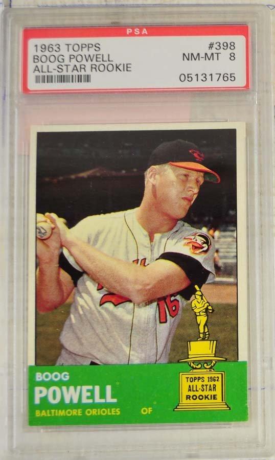 7 1963 Topps Baseball Cards PSA Graded 8 - 5