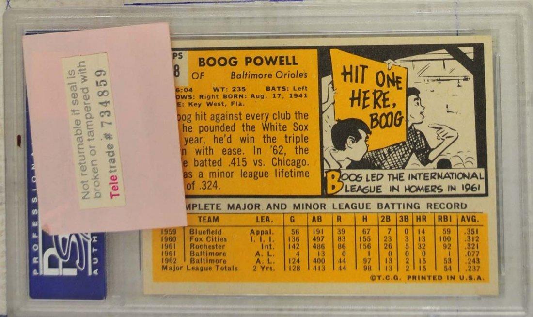 7 1963 Topps Baseball Cards PSA Graded 8 - 6