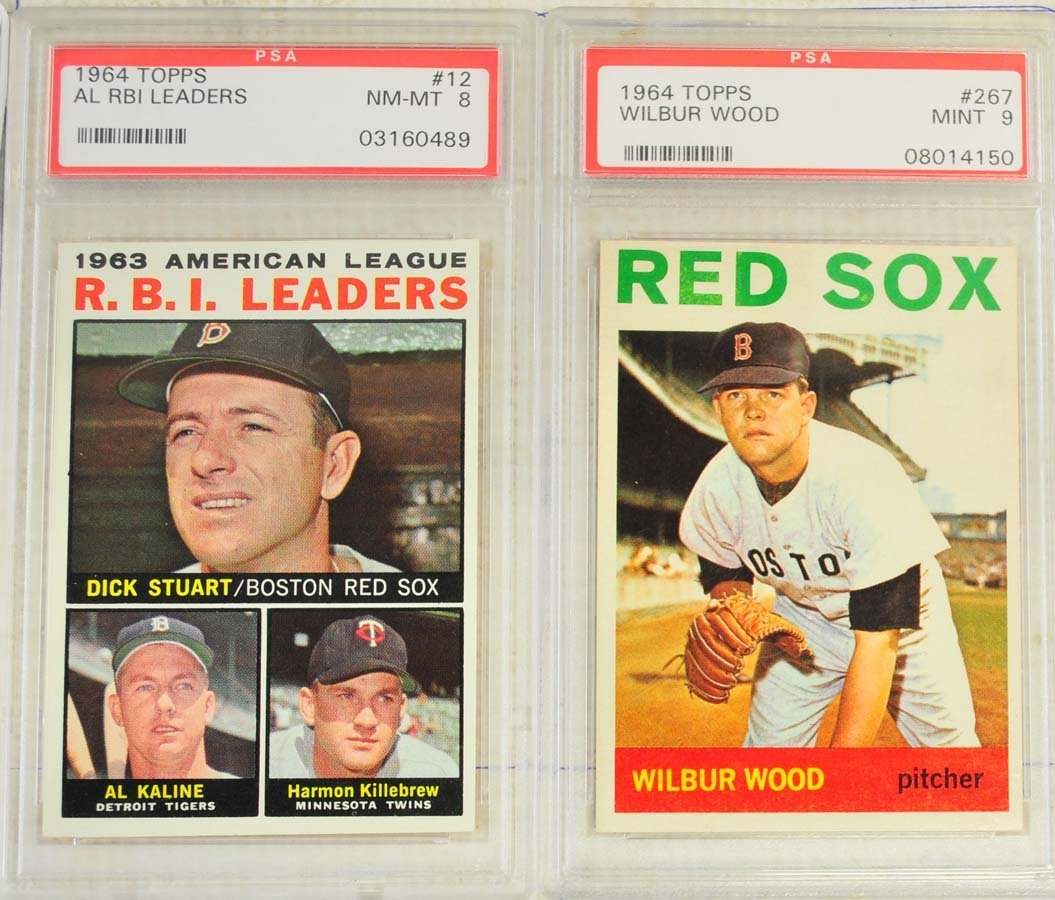 4 1964 Topps Baseball Cards PSA Graded 9/8