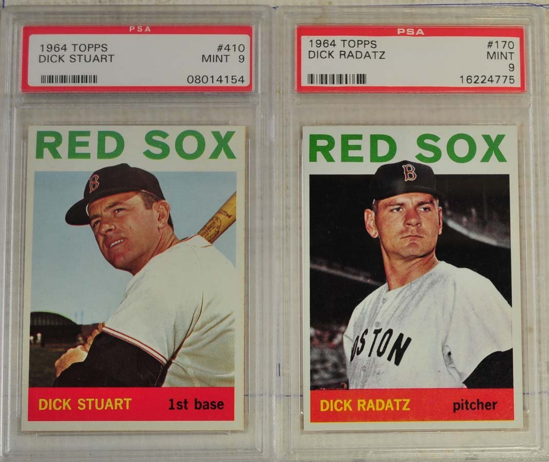 4 1964 Topps Baseball Cards PSA Graded 9/8 - 3