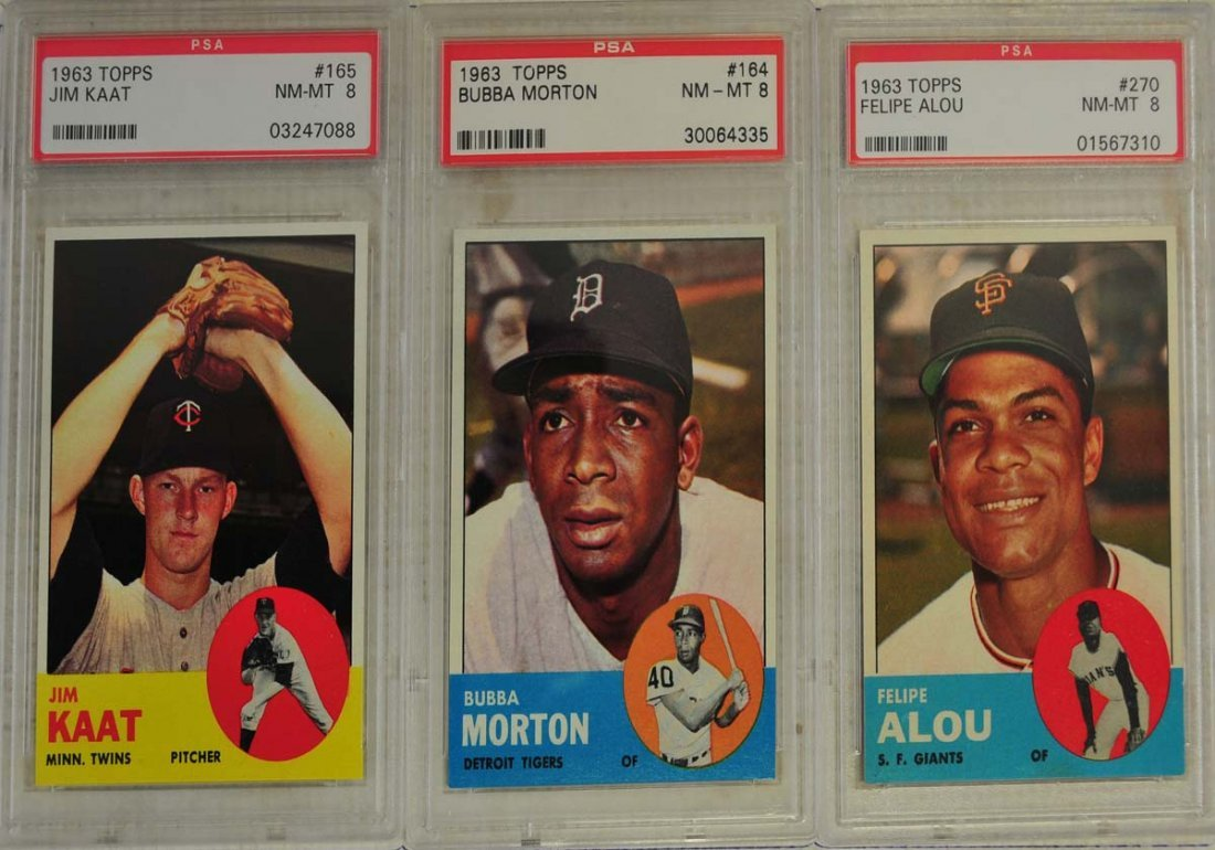 10  1963 Topps Baseball Cards PSA Graded 8 - 3