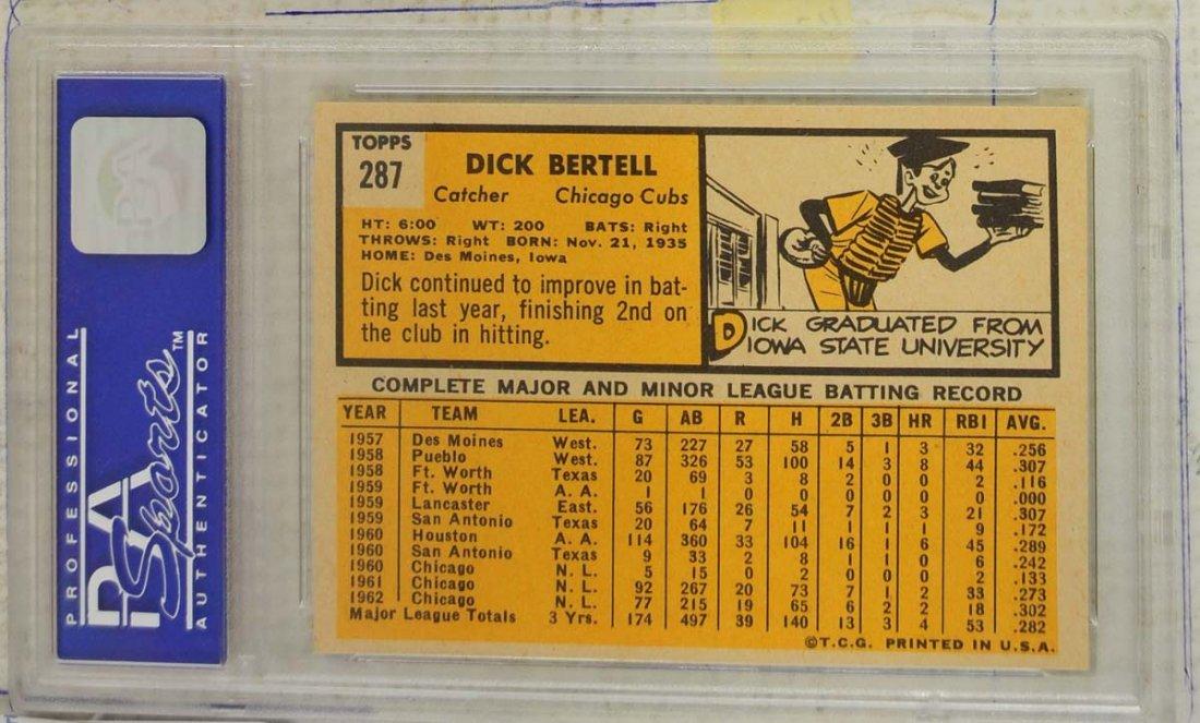 10  1963 Topps Baseball Cards PSA Graded 8 - 8
