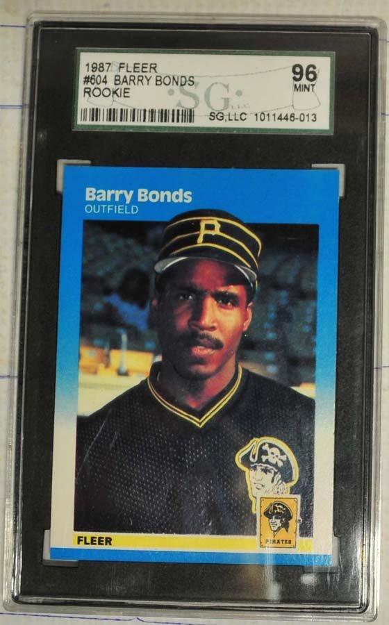 1987 Fleer Barry Bonds Rookie Card