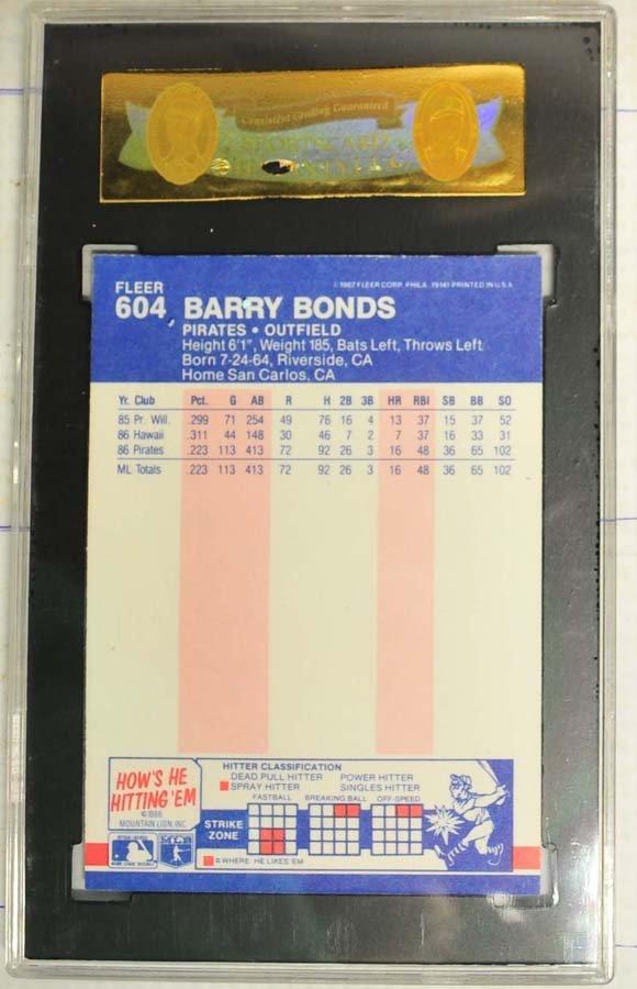 1987 Fleer Barry Bonds Rookie Card - 2