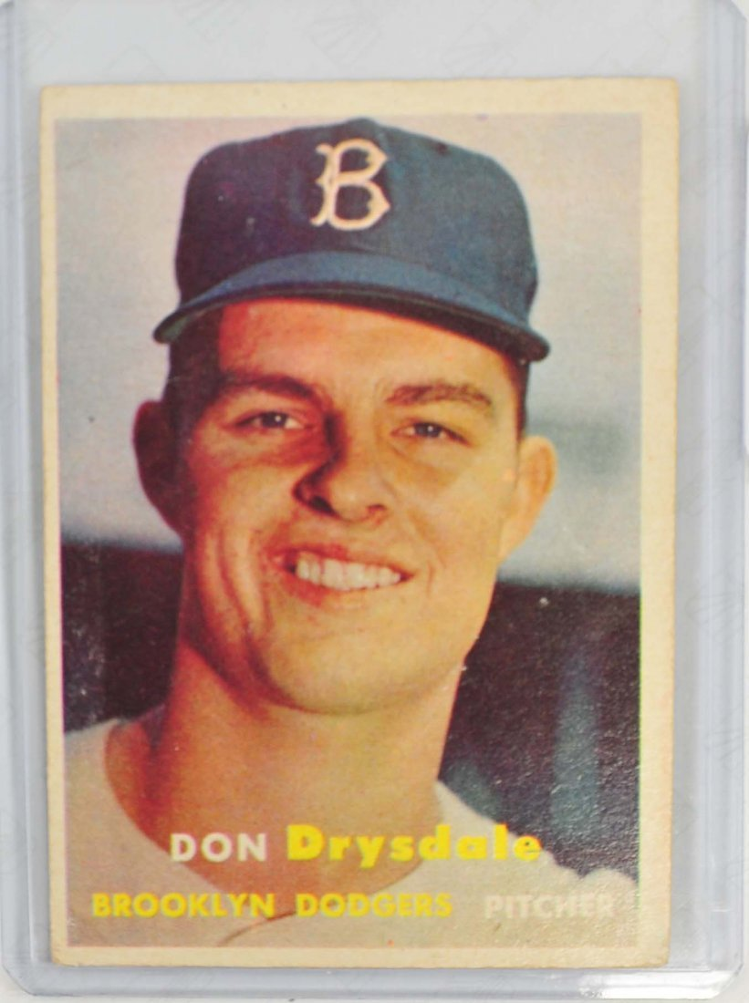 1957 Topps Don Drysdale Rookie Card