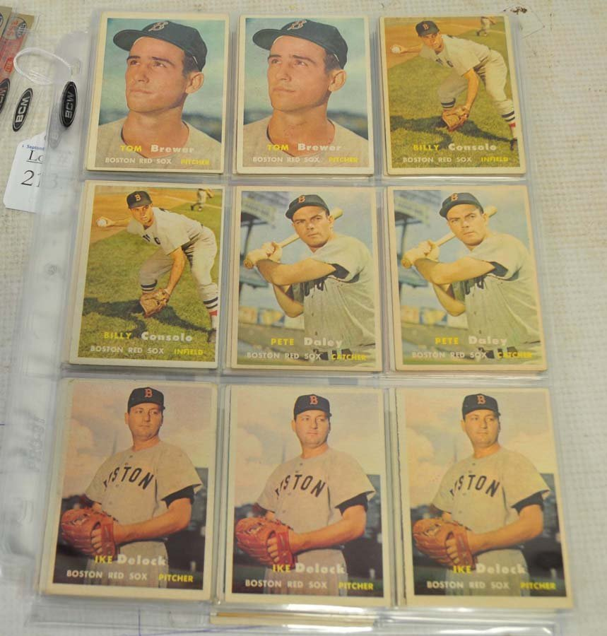 61 1957 Topps Red Sox Baseball Cards - 4