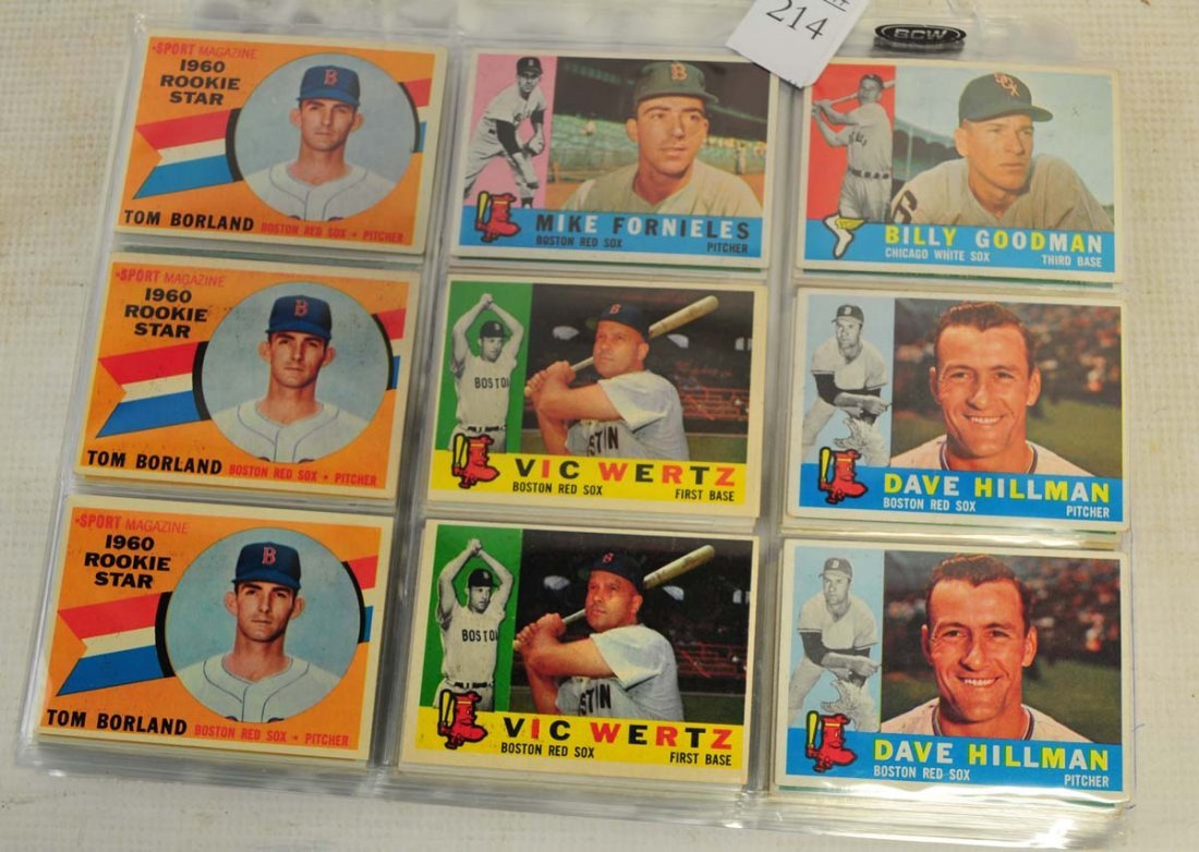97 1960 Topps Baseball cards