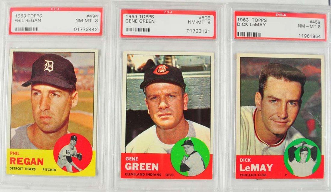 20 1963 Topps Baseball Cards PSA Graded 8