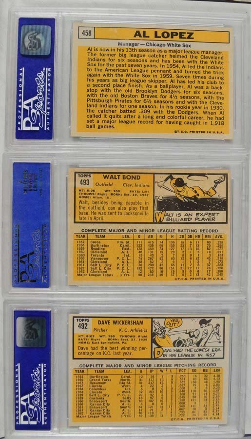 20 1963 Topps Baseball Cards PSA Graded 8 - 4
