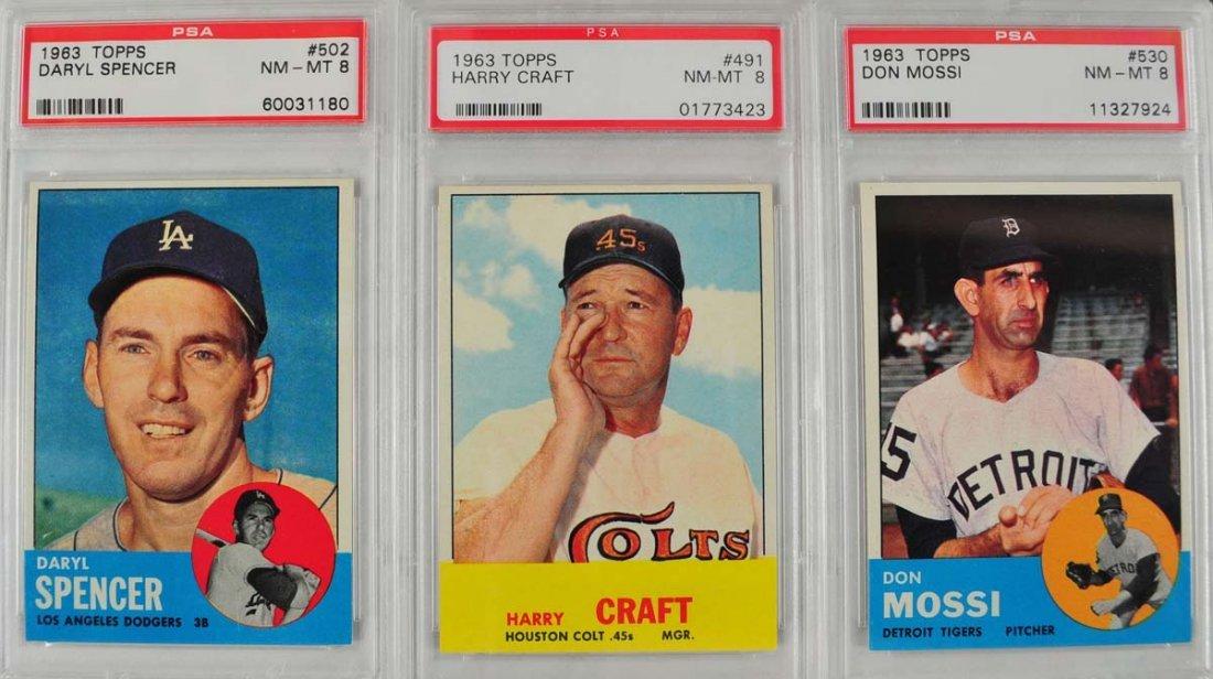 20 1963 Topps Baseball Cards PSA Graded 8 - 5