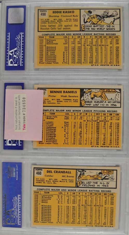 20 1963 Topps Baseball Cards PSA Graded 8 - 8