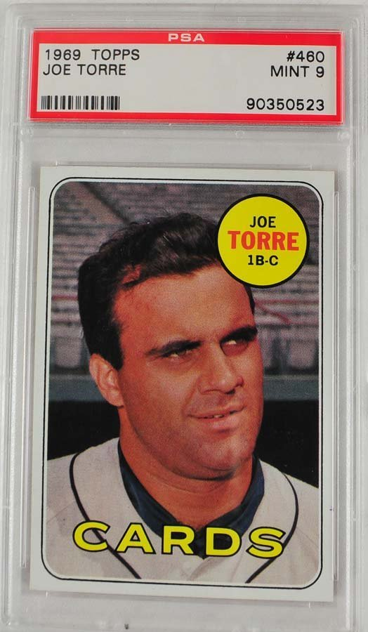 1969 Topps Joe Torre PSA Graded Mint 9