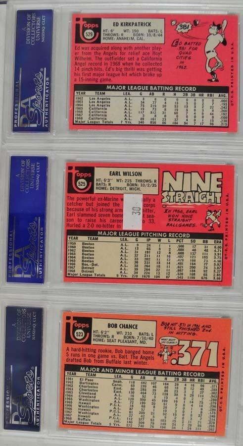 9 1969 Topps Baseball Cards PSA Graded Mint 9 - 2