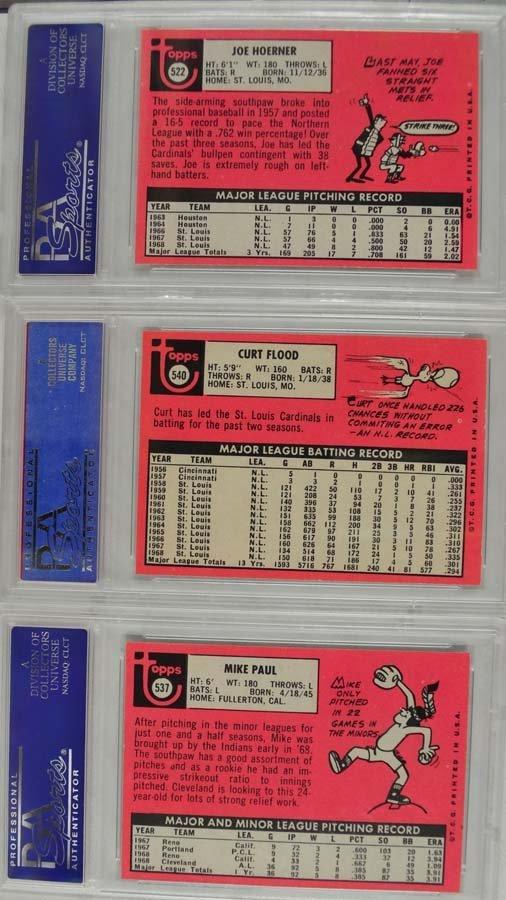 9 1969 Topps Baseball Cards PSA Graded Mint 9 - 6