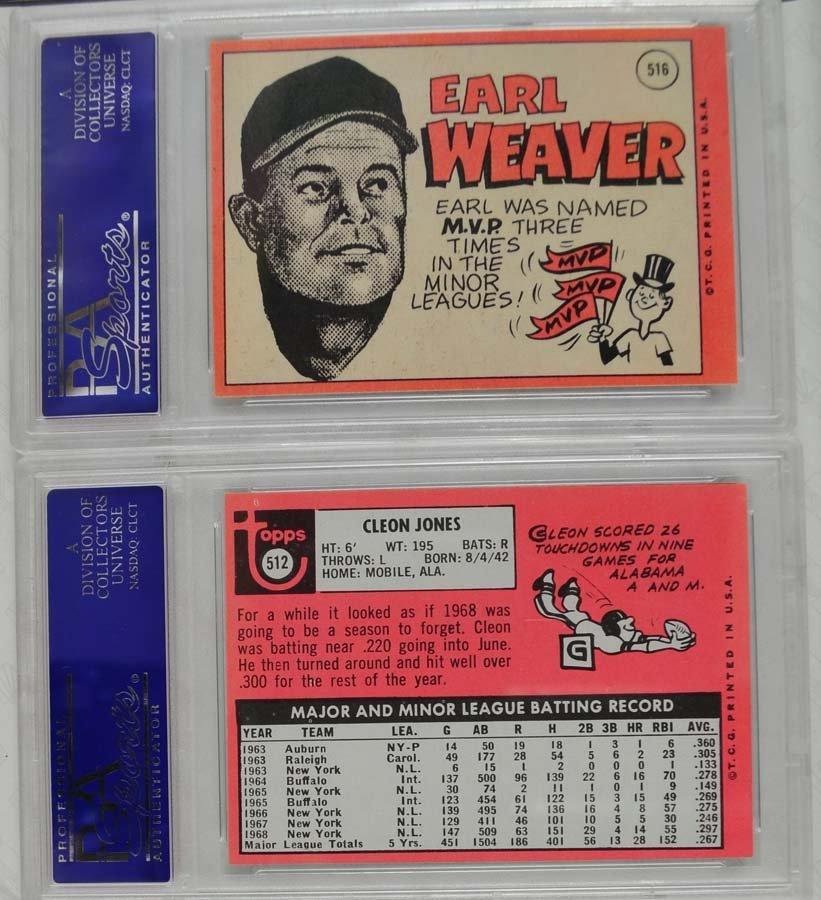 14 1969 Topps Baseball Cards PSA Graded 8 - 10