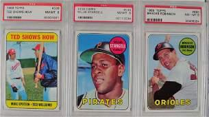 14 1969 Topps Baseball Cards PSA Graded 8