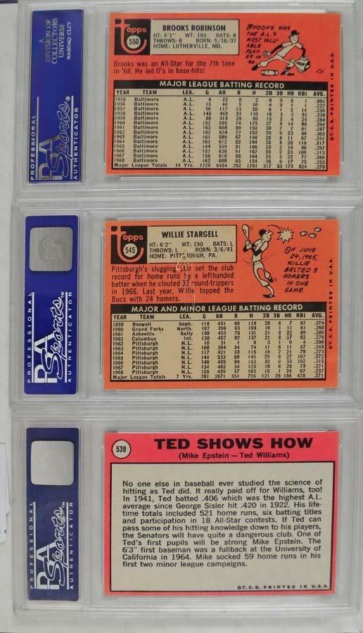14 1969 Topps Baseball Cards PSA Graded 8 - 2