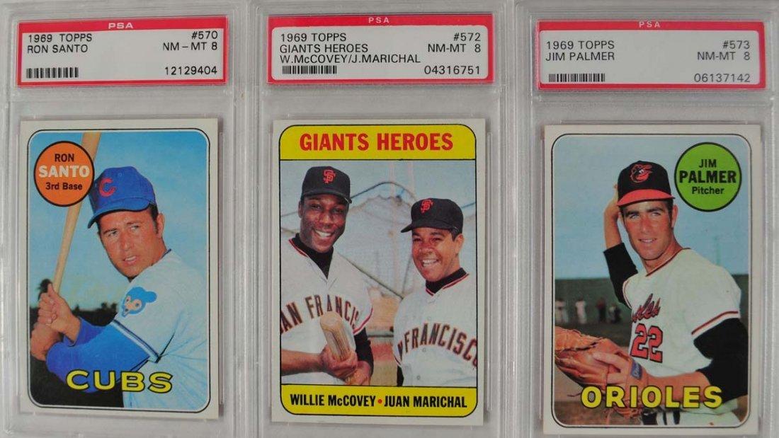14 1969 Topps Baseball Cards PSA Graded 8 - 3