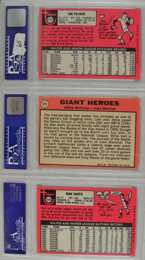 14 1969 Topps Baseball Cards PSA Graded 8 - 4