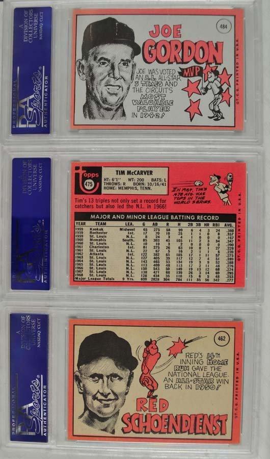 14 1969 Topps Baseball Cards PSA Graded 8 - 6