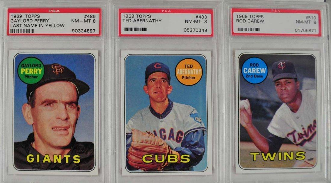 14 1969 Topps Baseball Cards PSA Graded 8 - 7